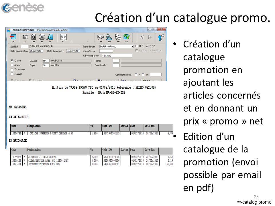Création d'un catalogue promo.