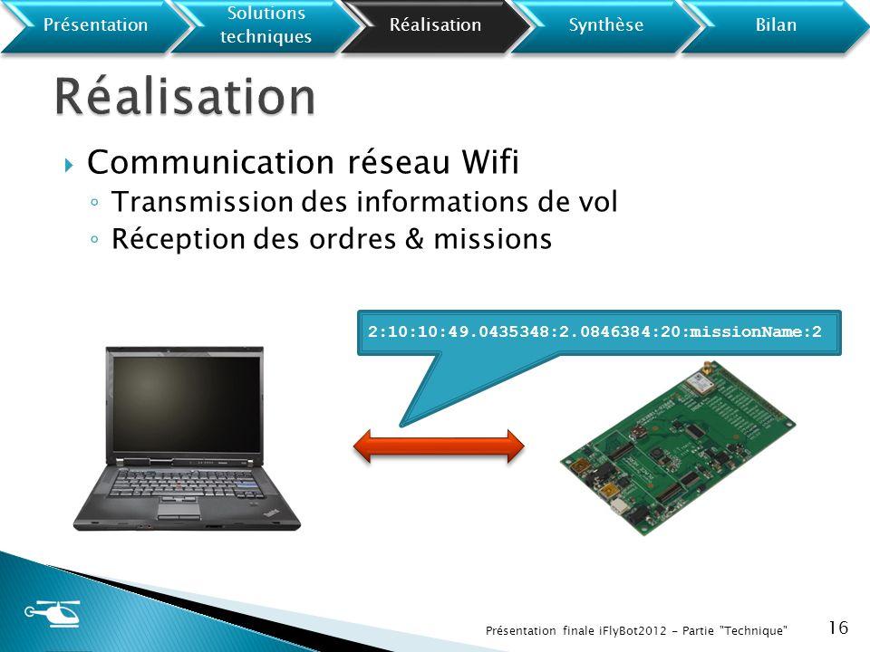Réalisation Communication réseau Wifi