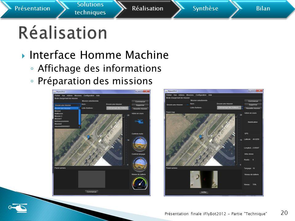 Réalisation Interface Homme Machine Affichage des informations