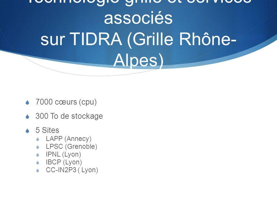 Technologie grille et services associés sur TIDRA (Grille Rhône-Alpes)