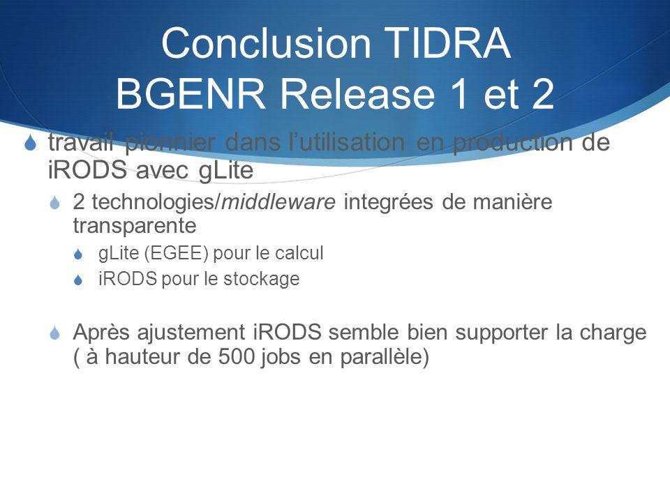 Conclusion TIDRA BGENR Release 1 et 2