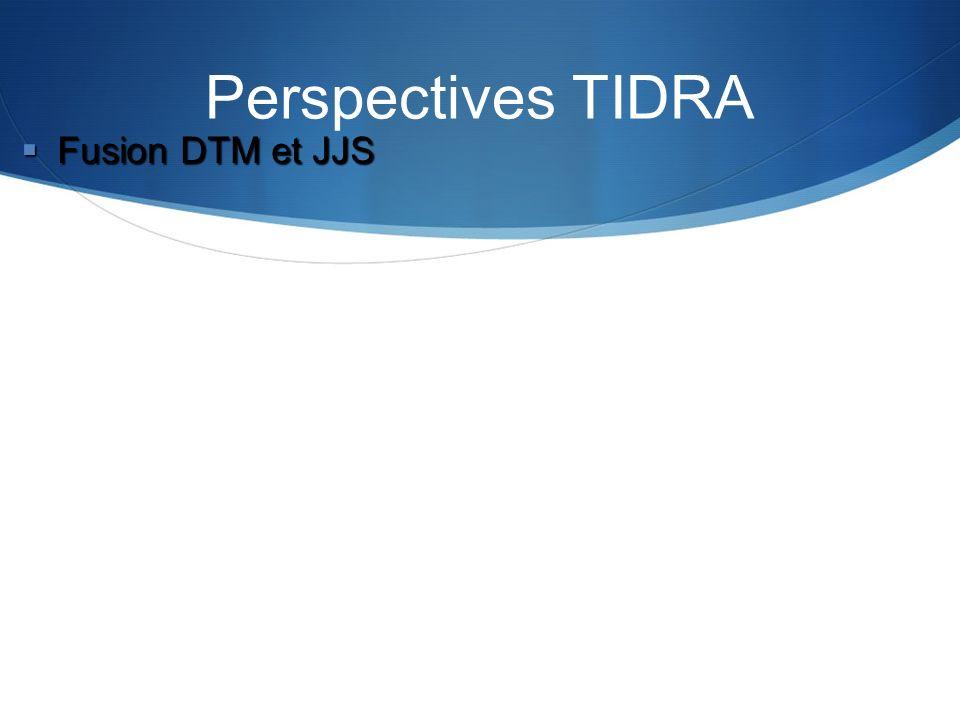 Perspectives TIDRA Fusion DTM et JJS