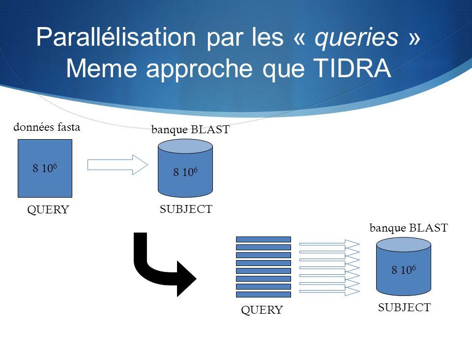 Parallélisation par les « queries » Meme approche que TIDRA