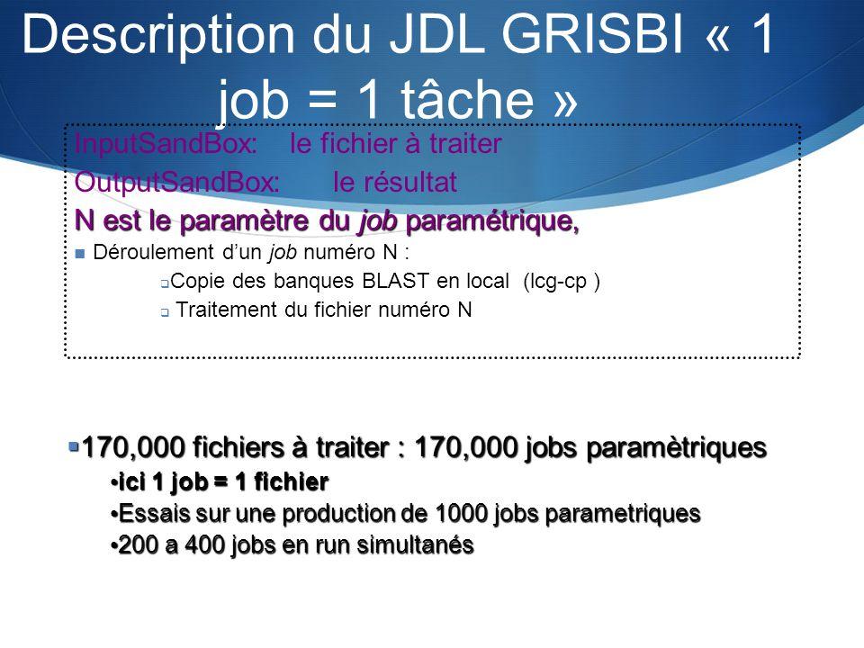 Description du JDL GRISBI « 1 job = 1 tâche »