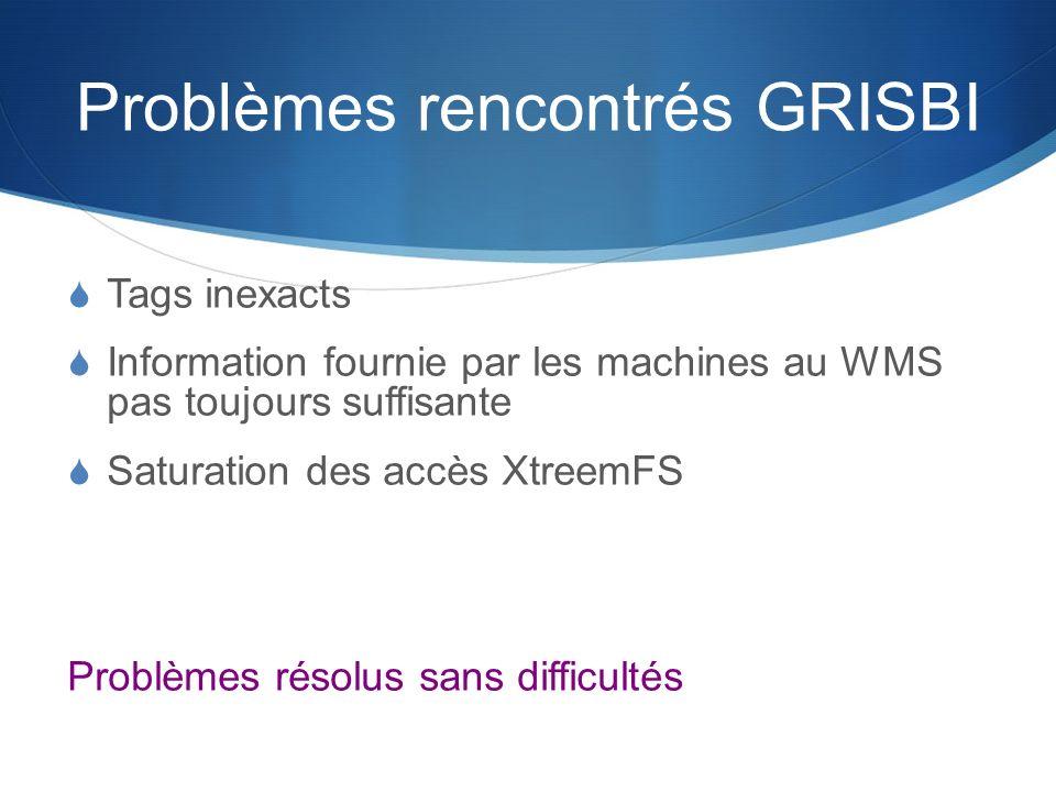 Problèmes rencontrés GRISBI