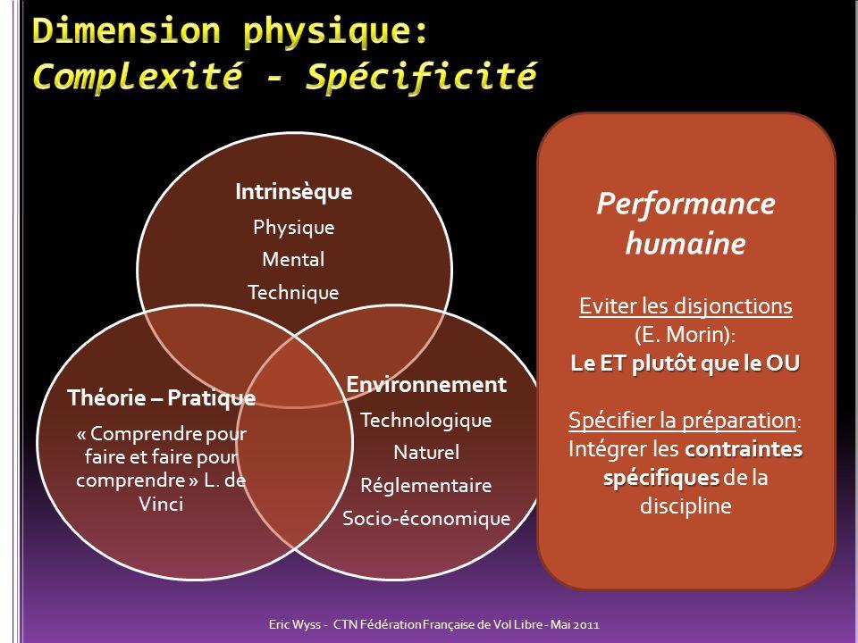 Dimension physique: Complexité - Spécificité