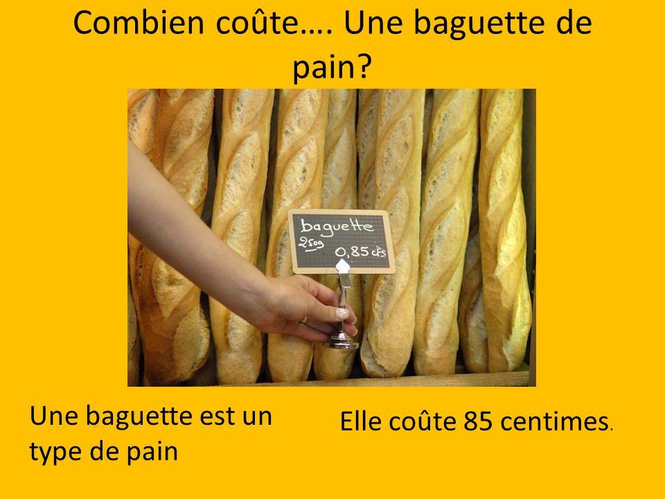 Combien coûte…. Une baguette de pain