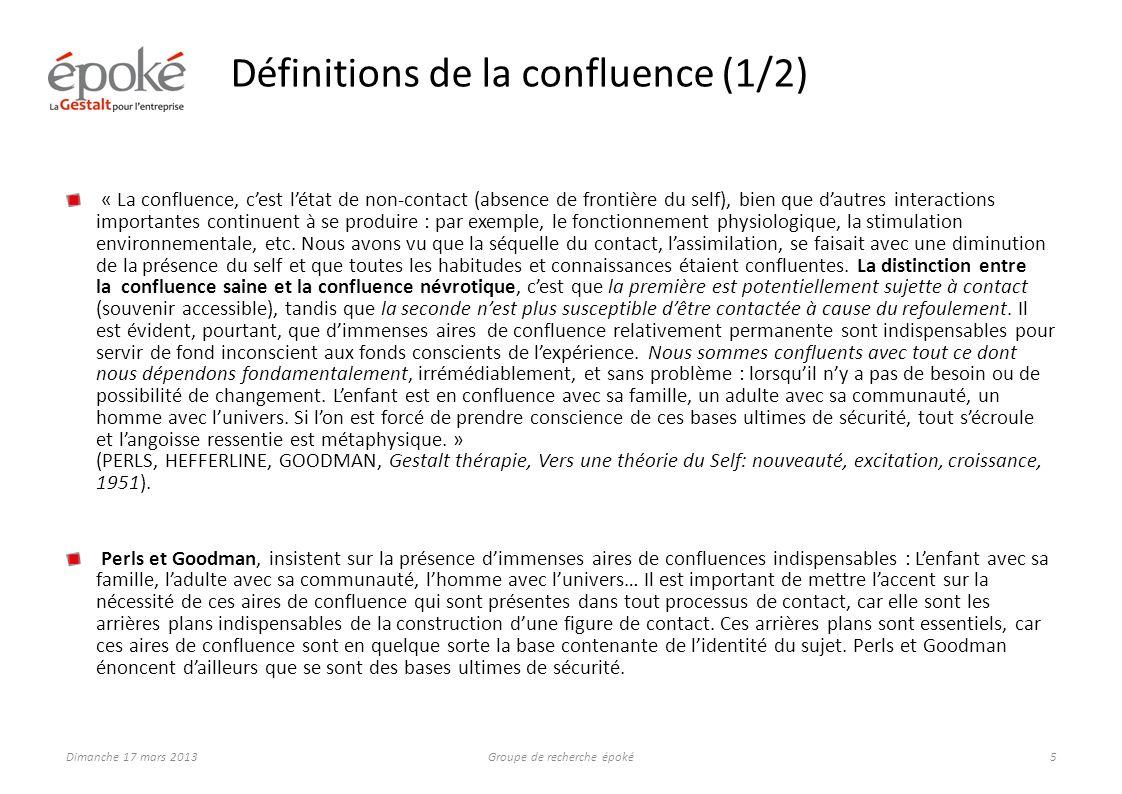 Définitions de la confluence (2/2)