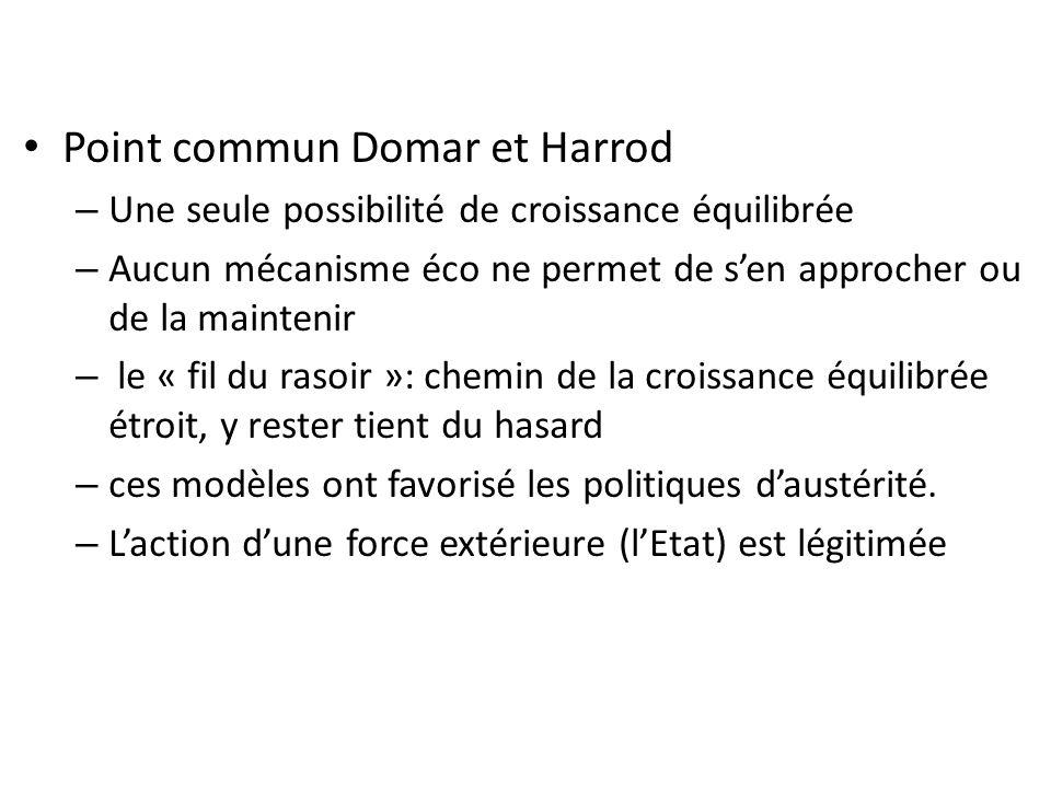Point commun Domar et Harrod