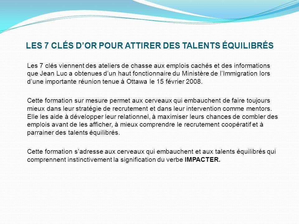 LES 7 CLÉS D'OR POUR ATTIRER DES TALENTS ÉQUILIBRÉS