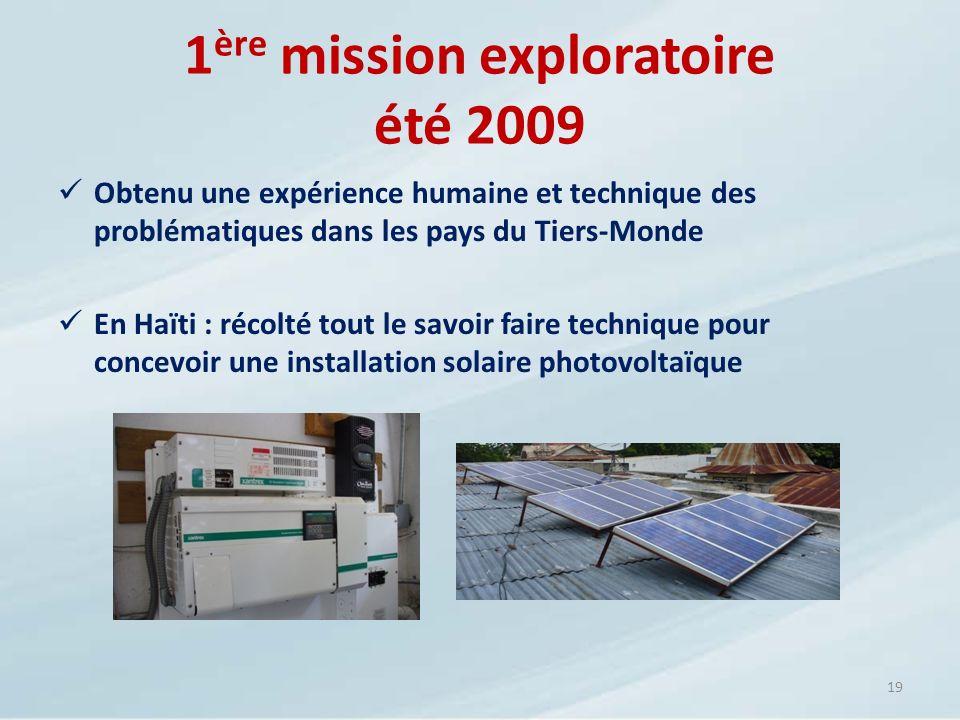 1ère mission exploratoire été 2009