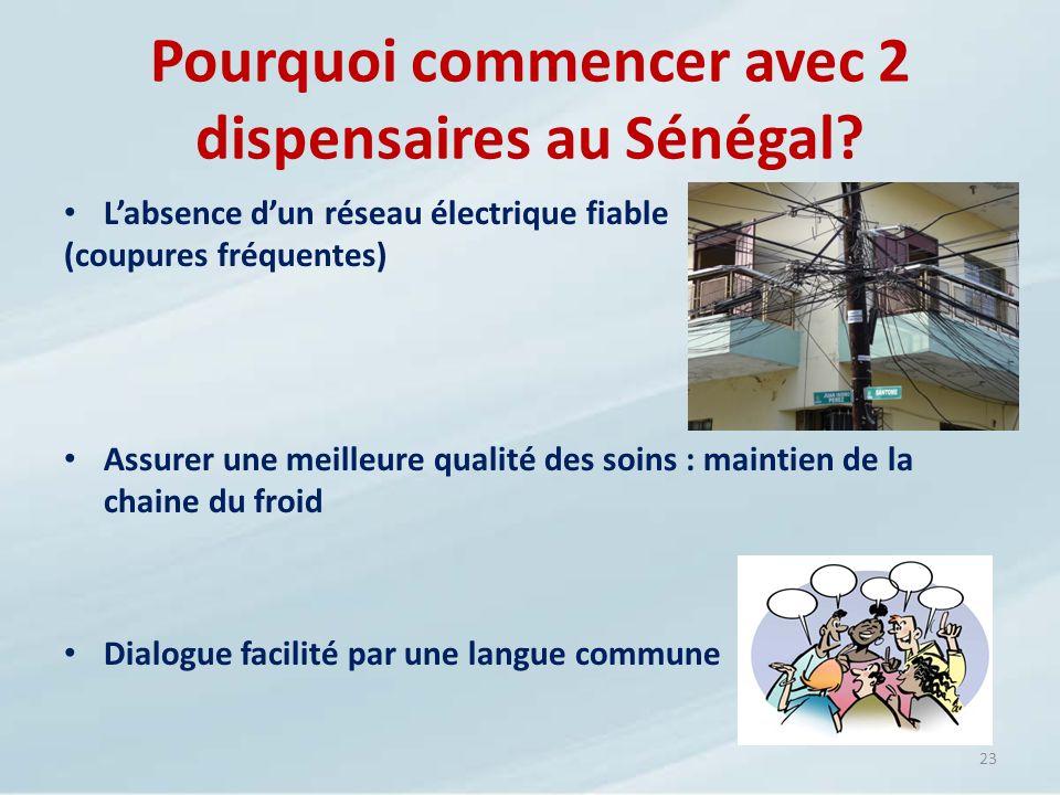 Pourquoi commencer avec 2 dispensaires au Sénégal