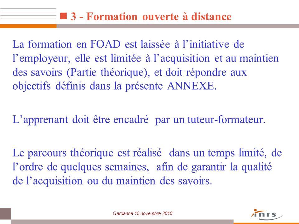 3 - Formation ouverte à distance