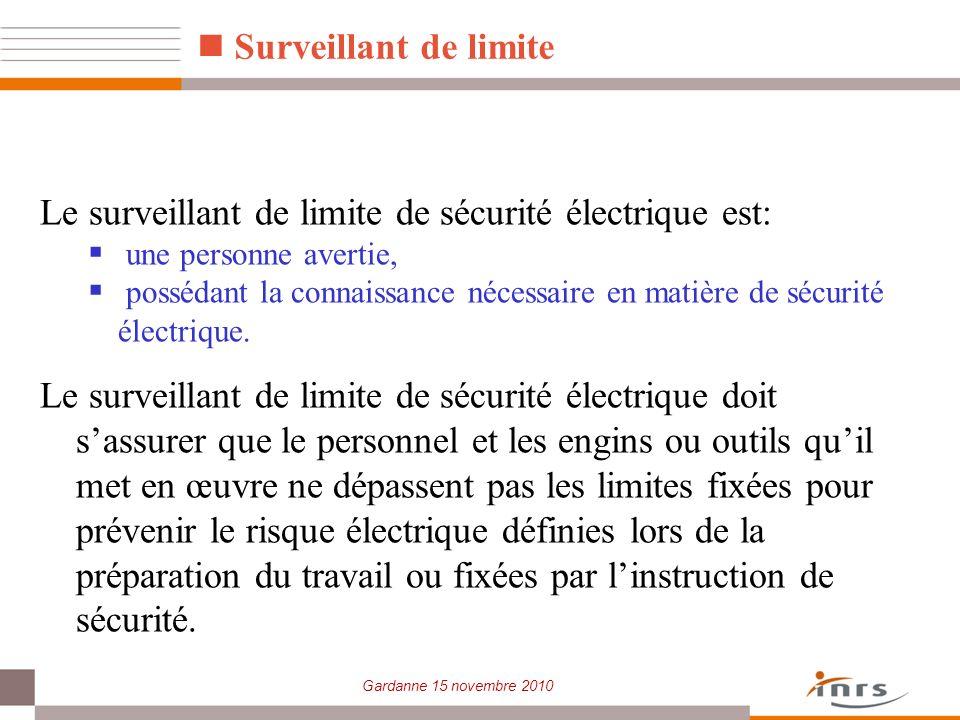 Le surveillant de limite de sécurité électrique est: