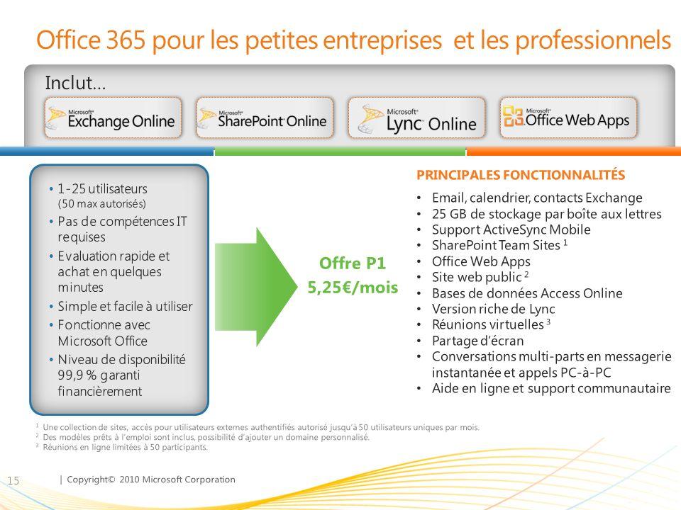Office 365 pour les petites entreprises et les professionnels