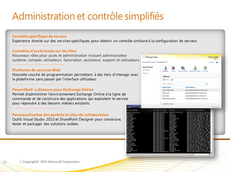 Administration et contrôle simplifiés