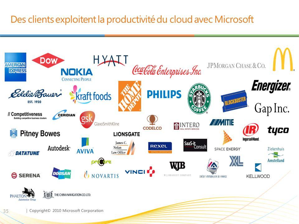 Des clients exploitent la productivité du cloud avec Microsoft