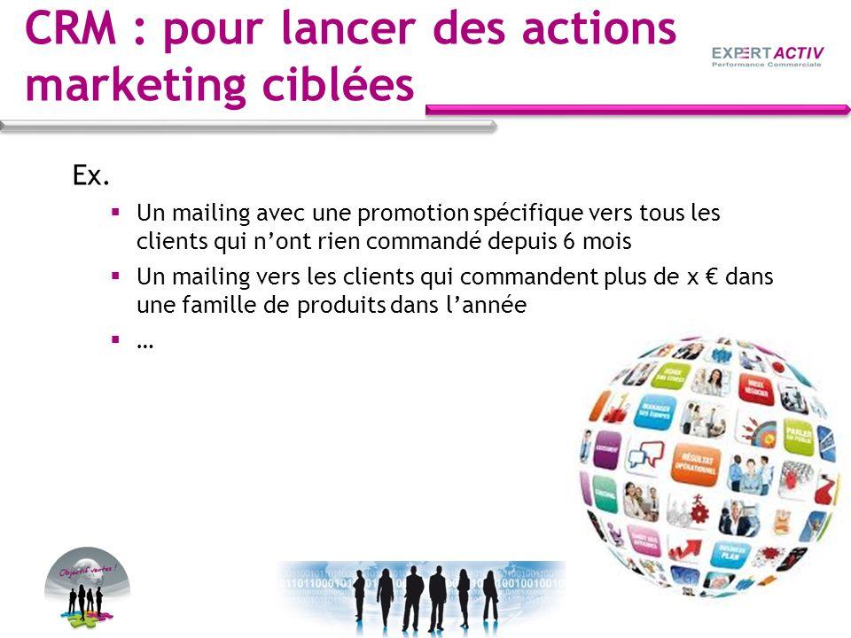 CRM : pour lancer des actions marketing ciblées