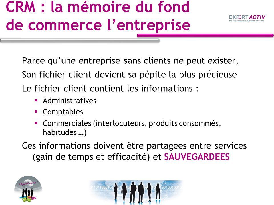 CRM : la mémoire du fond de commerce l'entreprise