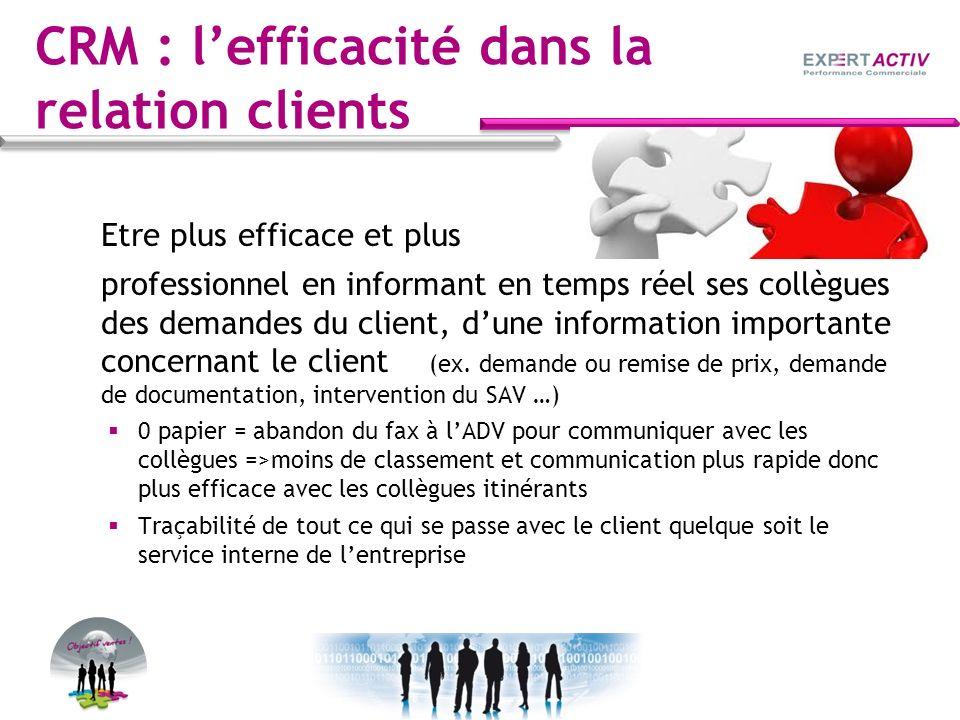 CRM : l'efficacité dans la relation clients
