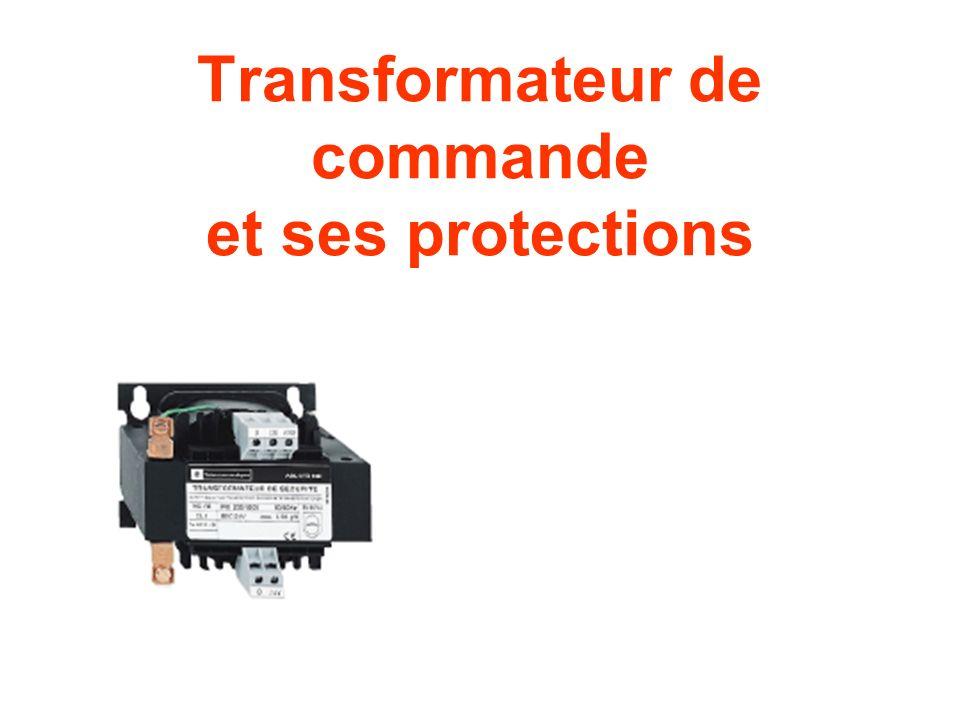 Transformateur de commande et ses protections