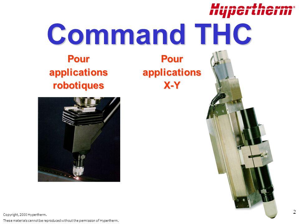 Command THC Pour applications robotiques Pour applications X-Y