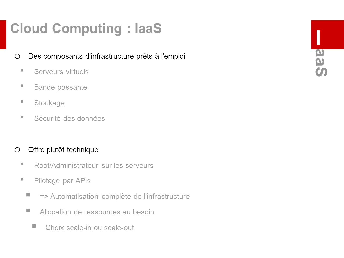 I aaS Cloud Computing : IaaS