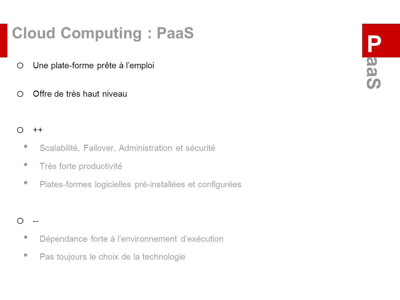P aaS Cloud Computing : PaaS Une plate-forme prête à l'emploi