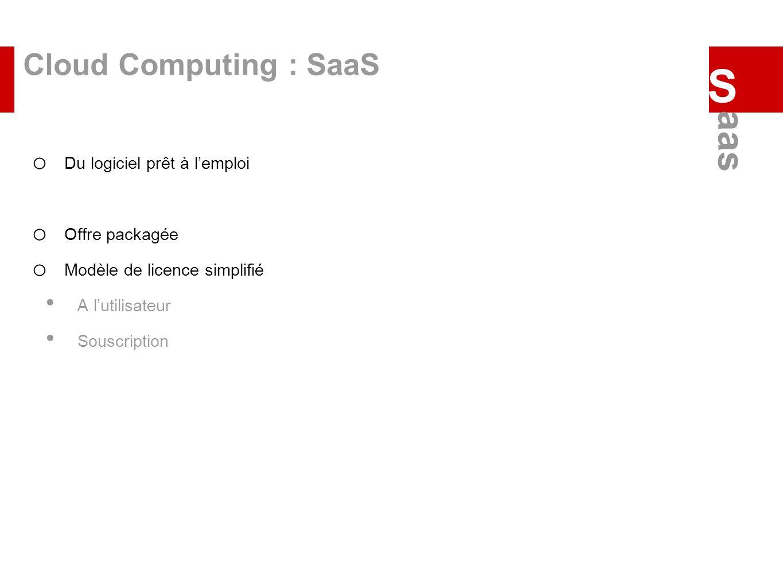 S aas Cloud Computing : SaaS Du logiciel prêt à l'emploi