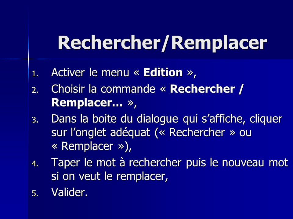 Rechercher/Remplacer
