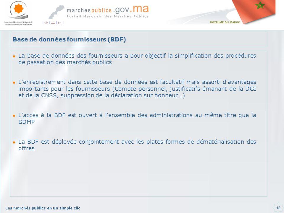 Base de données fournisseurs (BDF)