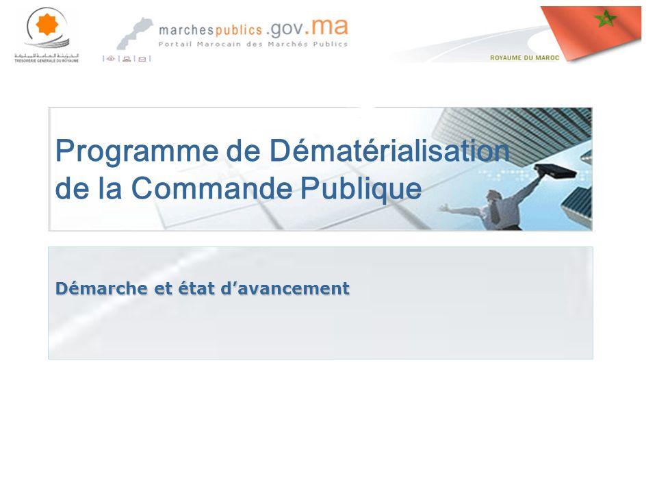 Programme de Dématérialisation de la Commande Publique