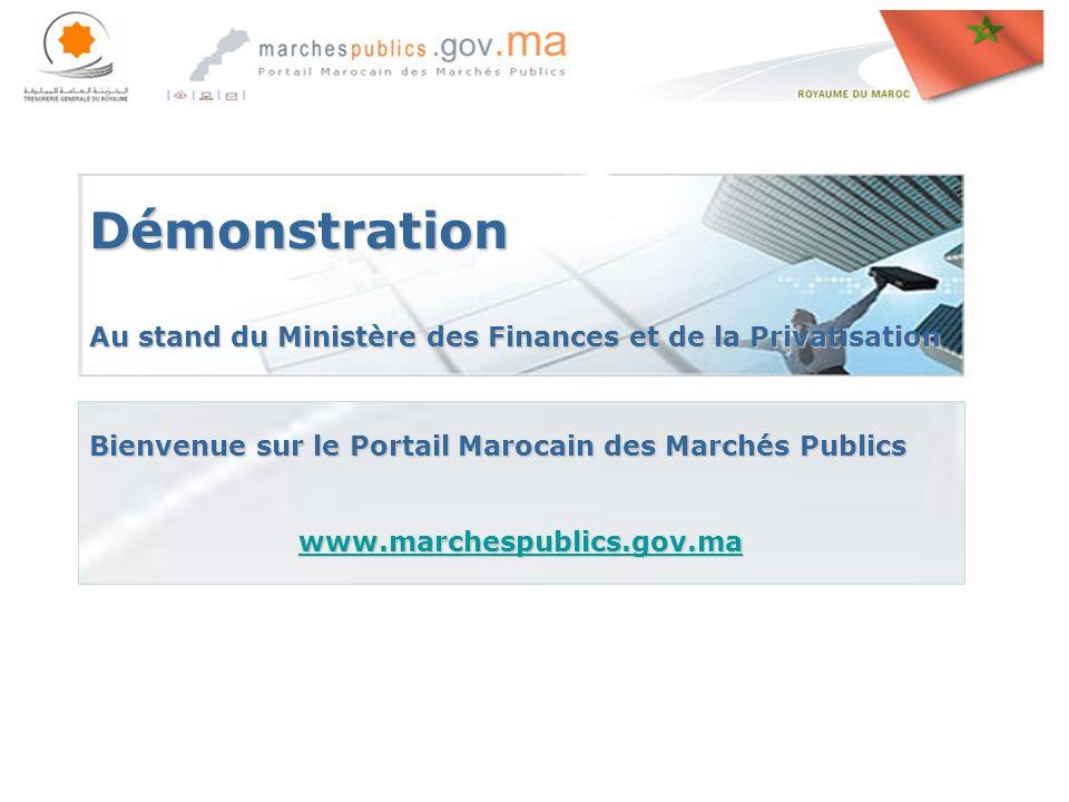 Démonstration Au stand du Ministère des Finances et de la Privatisation