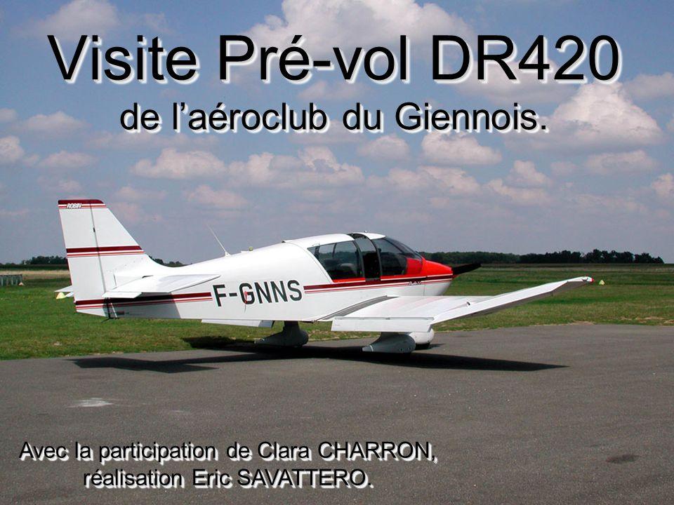 Visite Pré-vol DR420 de l'aéroclub du Giennois.