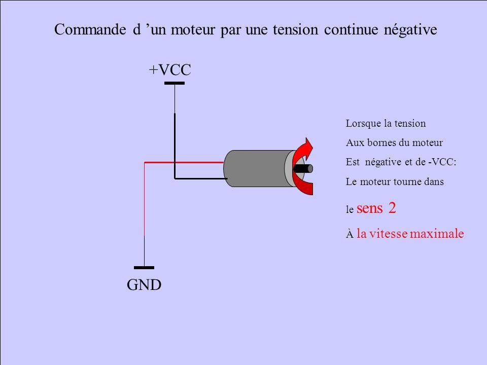 Commande d 'un moteur par une tension continue négative