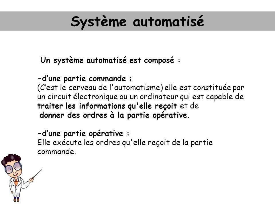 Système automatisé Un système automatisé est composé :