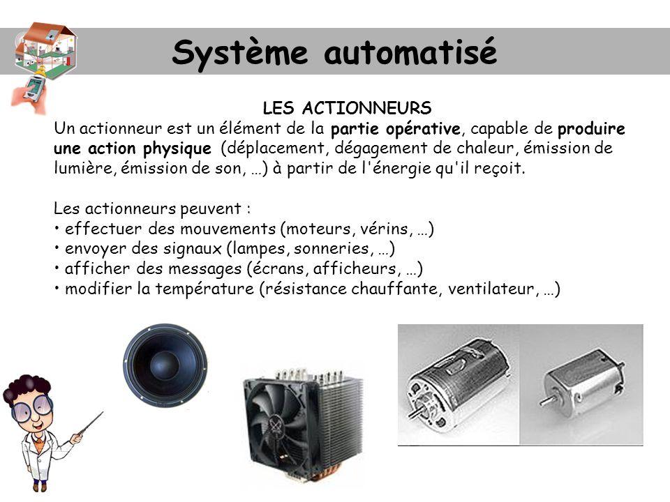 Système automatisé LES ACTIONNEURS