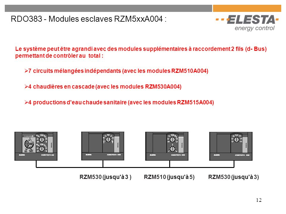 RDO383 - Modules esclaves RZM5xxA004 :