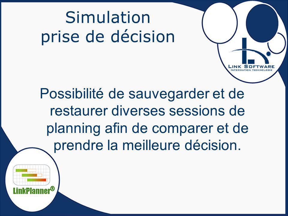 Simulation prise de décision