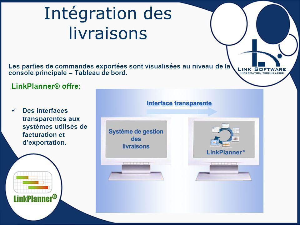 Intégration des livraisons