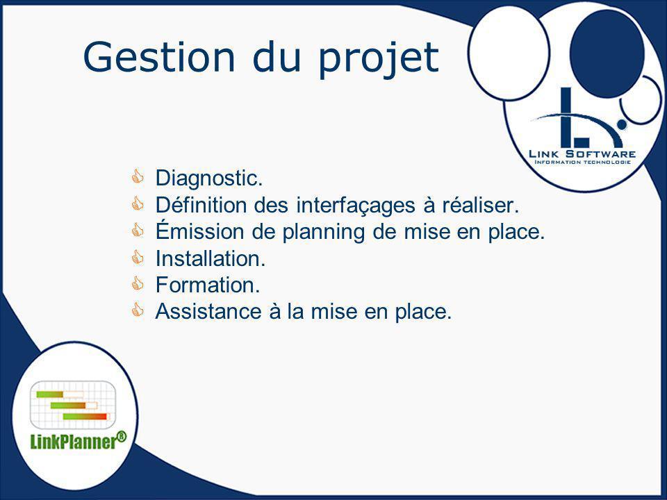 Gestion du projet Diagnostic. Définition des interfaçages à réaliser.