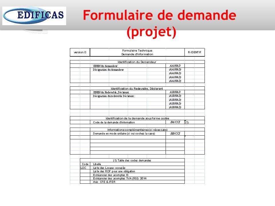 Formulaire de demande (projet)