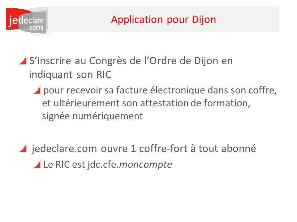 Application pour Dijon