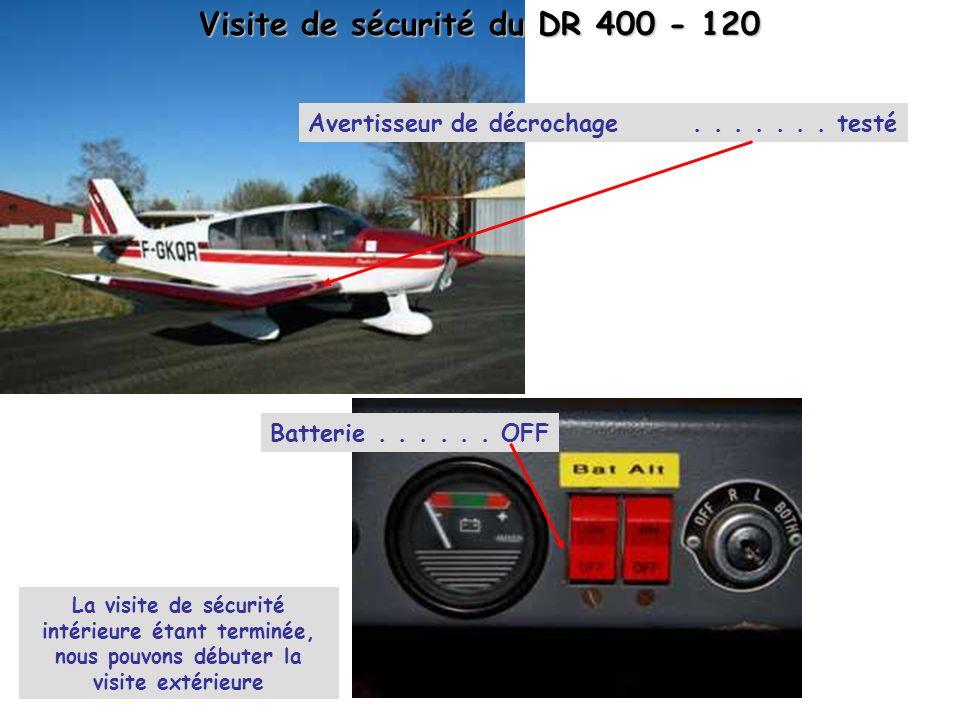 Visite de sécurité du DR 400 - 120