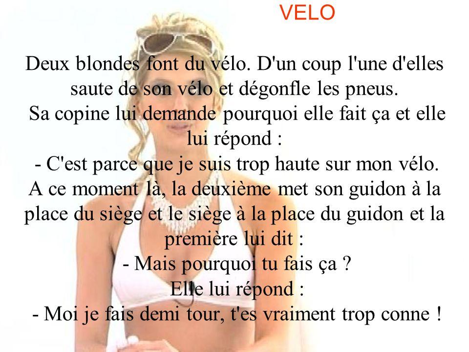 VELO Deux blondes font du vélo