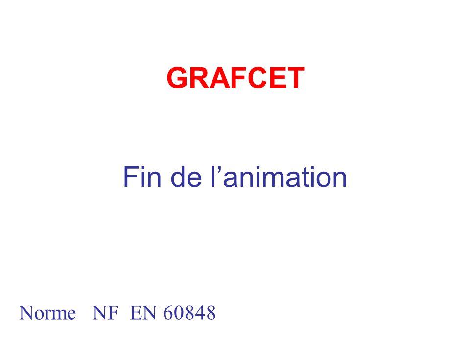 GRAFCET Fin de l'animation Norme NF EN 60848