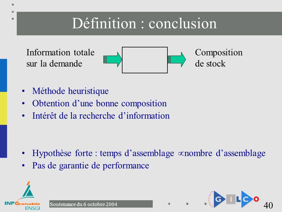 Définition : conclusion