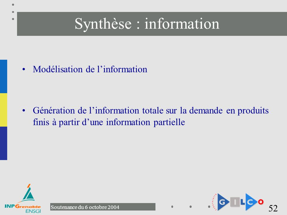 Synthèse : information