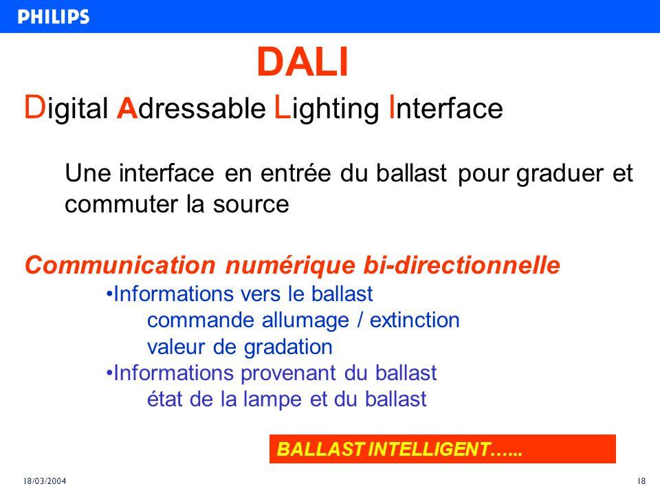 DALI Digital Adressable Lighting Interface