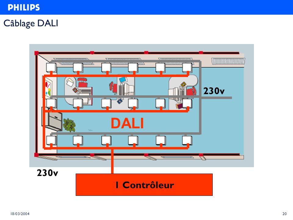 Câblage DALI 230v DALI 230v 1 Contrôleur 18/03/2004 20